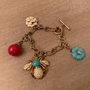 Stella & Dot Bee Charm Bracelet